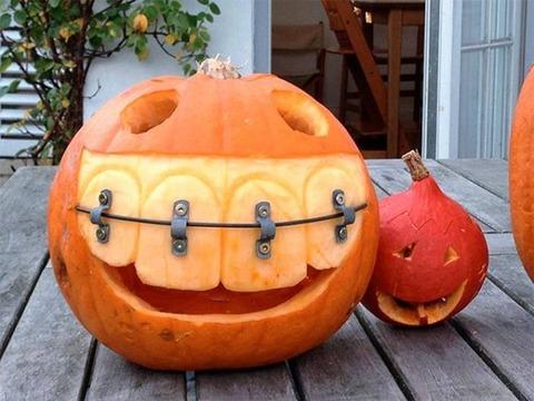 歯列矯正中のパンプキン
