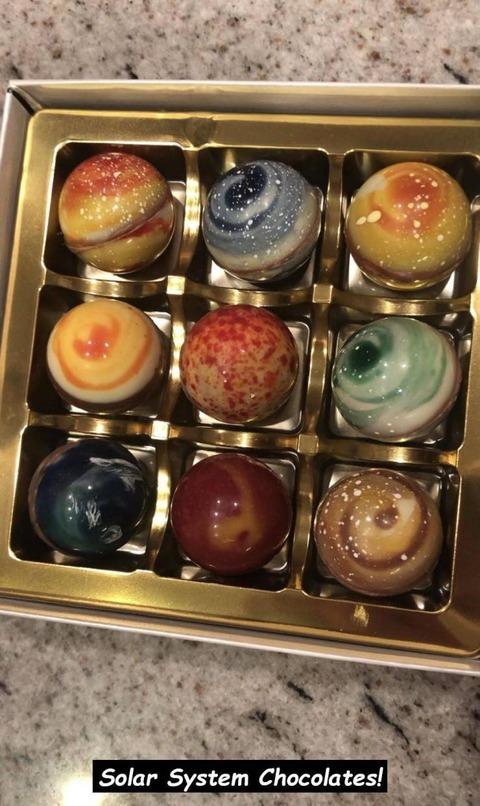 太陽系のチョコレート