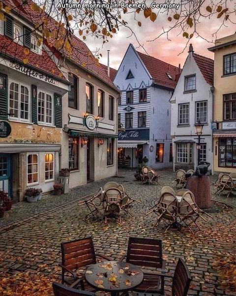 ドイツのブレーメンの秋