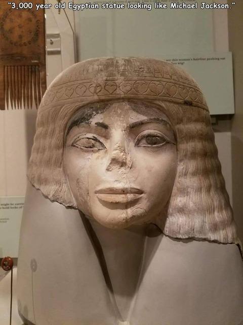 マイケル・ジャクソンそっくりなエジプトの彫像