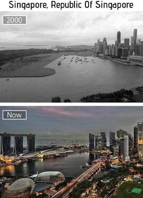 シンガポールの20年の違い。