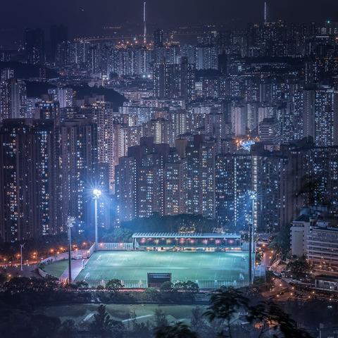 アジア、香港の夜景 (7)
