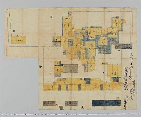 薩摩藩伏見屋敷の絵図