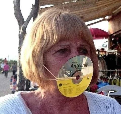 ウィルス対策のマスク