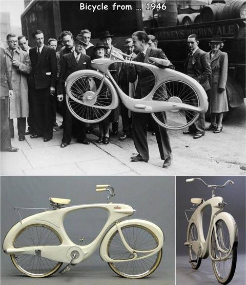 1946年の自転車が意外と未来的www。