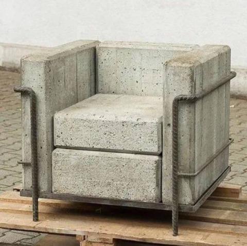 コンクリートのソファ