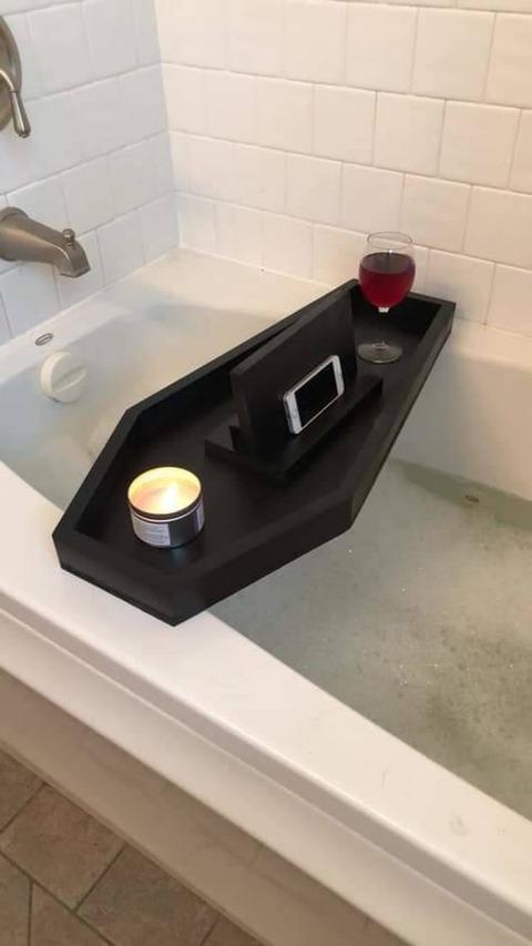 棺桶型お風呂テーブル