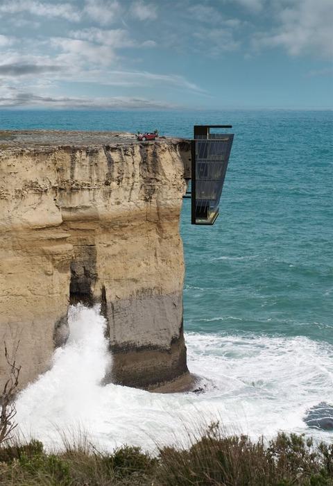 崖に作った家Cliff-House