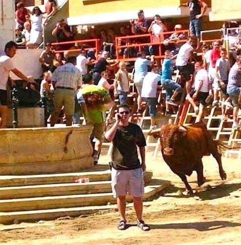 そうそう。今スペインで闘牛観てる