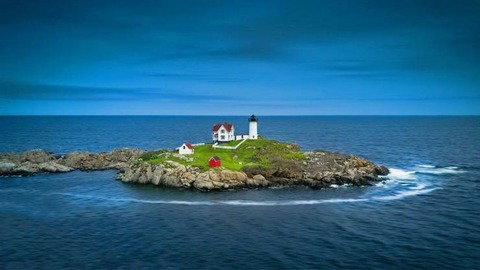 灯台がある島の風景アイスランド?