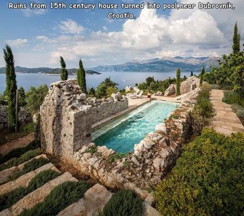 15世紀に作られてたクロアチアのプール