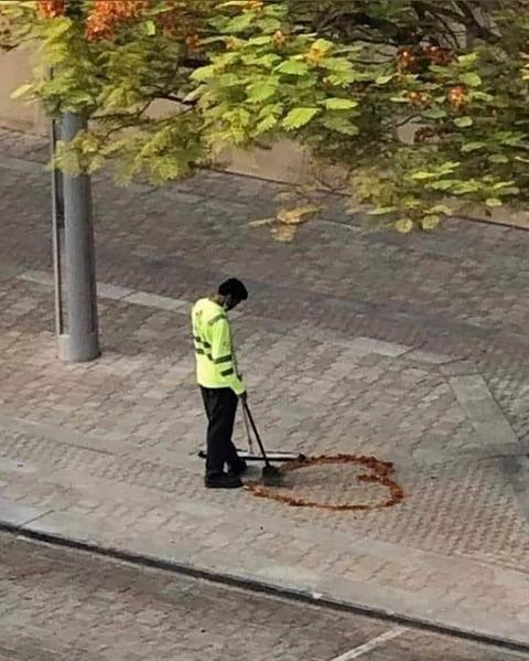 ロマンチストな清掃員。