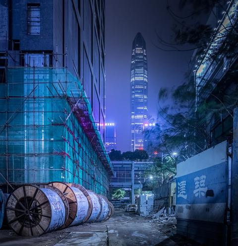 アジア、香港の夜景 (1)