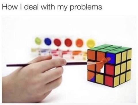 誰もが一度は考えるルービックキューブの揃え方