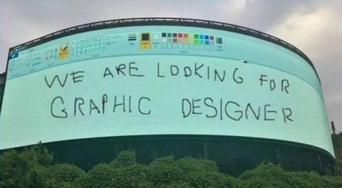 グラフィックデザイナーを募集する秀逸な広告
