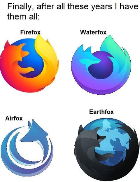 ファイアーフォックスのロゴデザイン
