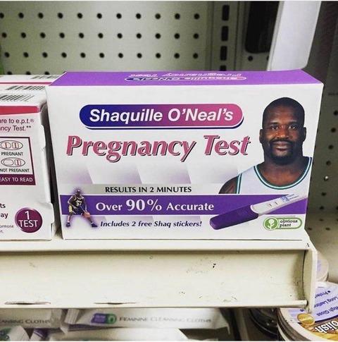 シャキールオニールの妊娠検査薬