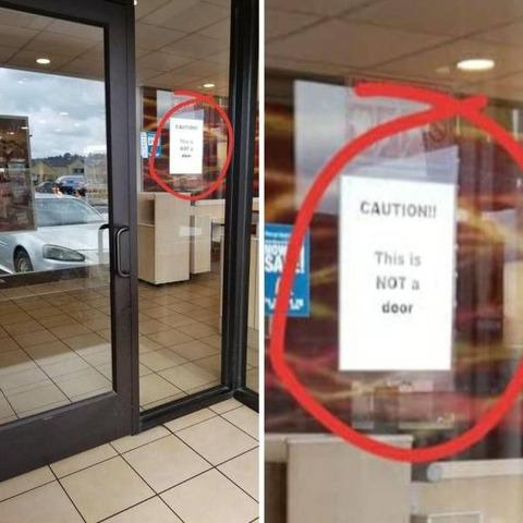 確かに分かり辛いガラスのドア