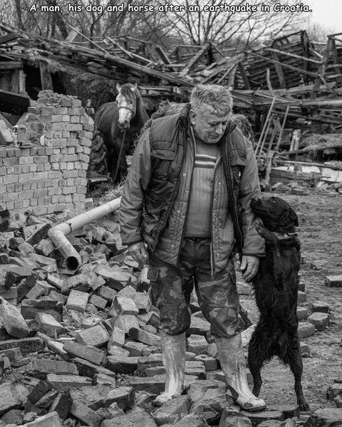 クロアチアの地震の後の1枚の写真。