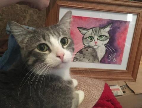 ネコの自画像