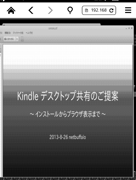 Presentation using Kindle Paperwhite