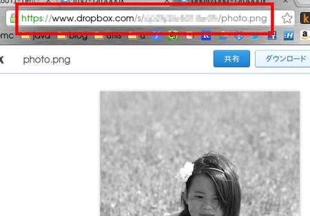 dropbox 共有URL