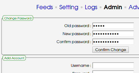 KindleEar change admin password