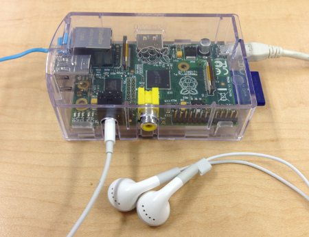raspberry pi - connect earphone