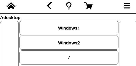 kindle launcher rdesktop host menu