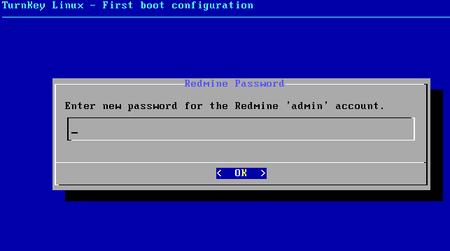 07 turnkey linux redmine admin password