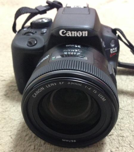 07 EF 35mm f2 IS USM レンズをEOS Kiss X7に装着
