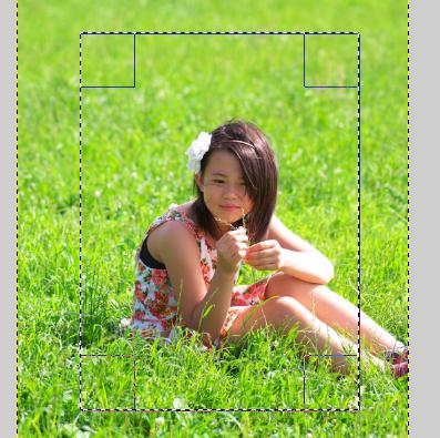 01 GIMP 矩形選択
