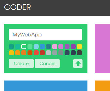 13 coder - create new web app