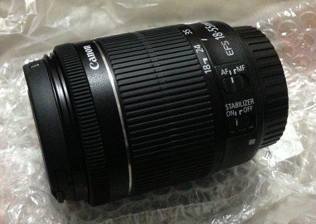 Canon 18-55mm STMレンズ
