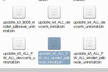 kindlet update bin