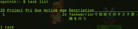 Taskwarrior task list
