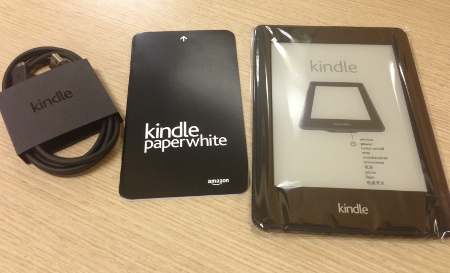 kindle paperwhite 2nd gen 開封