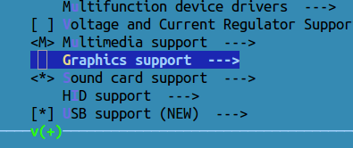 make config graphics support