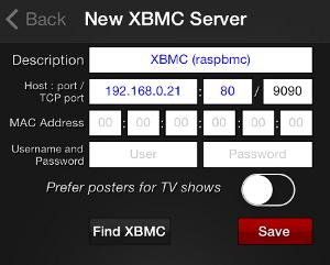 01 xbmcRemote Find Host