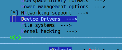 make config device drivers