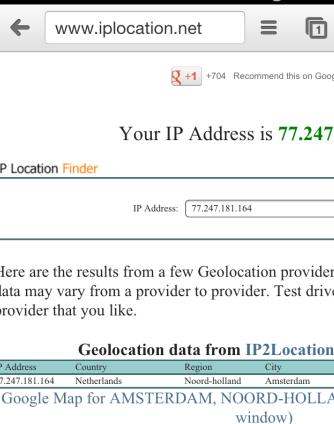 wifi client -  iplocation