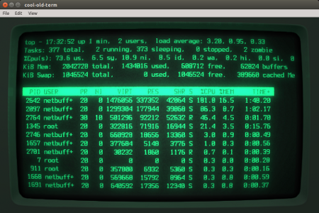 cool and vintage linux terminals