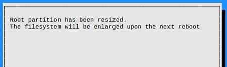 rasp-iconfig expand filesystem finish
