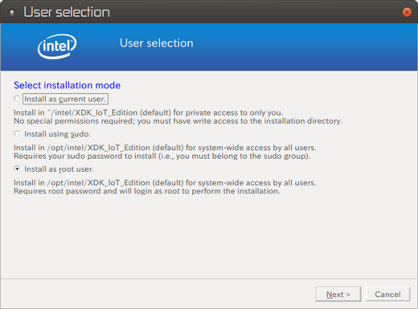 XDK IoT Edition installer