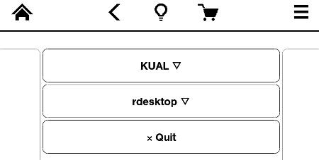 kindle launcher rdesktop menu