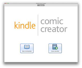 kindle comic creater top menu