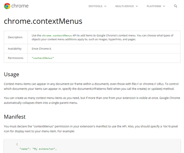 chrome-dev-platform-extension-contextmenus