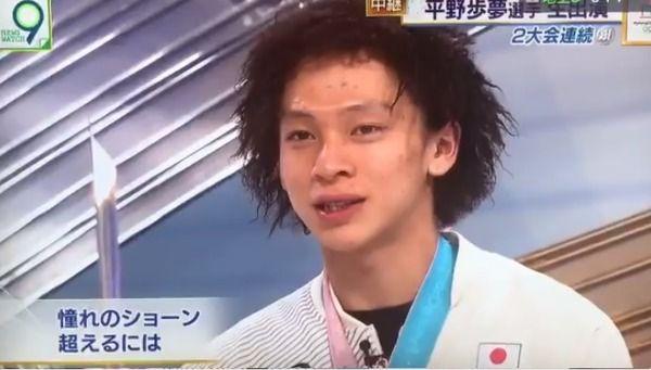 【朗報】NHKに出演した平野歩夢、めっちゃ好青年www(画像あり)