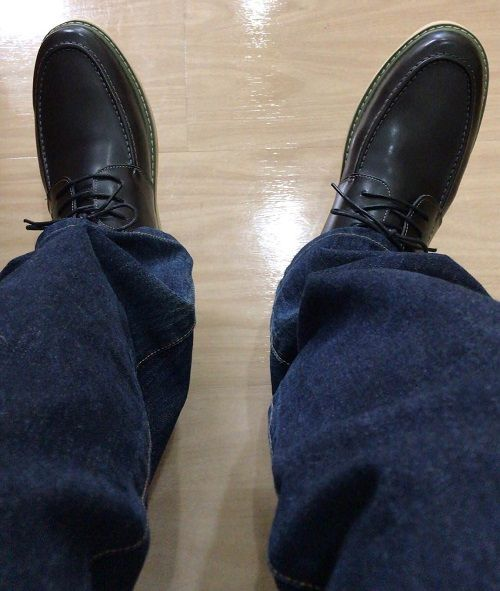 【画像うp】Amazonのセールで買った革靴が届いたw