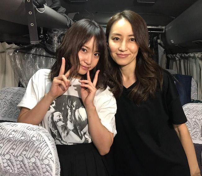 永尾まりやと女優矢田亜希子の2ショットがこちら!!【元AKB48まりやぎ】